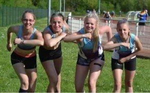 Relais 4 x 100m Cadettes Barbara, Julie, Ambre et Lison
